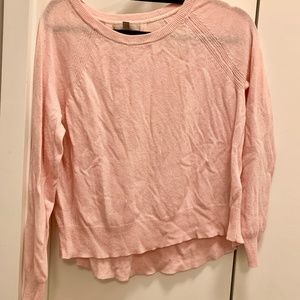 Pale Pink Cashmere Blend Sweater